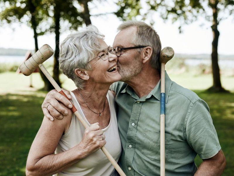 Ældre ægtepar på Danhostel